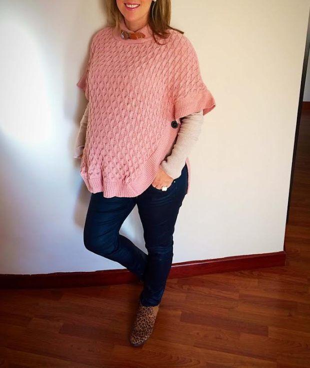 poncho rosa
