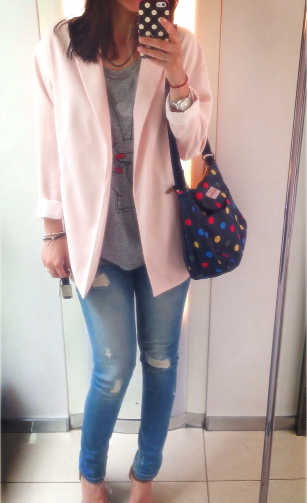 fluid pink blazer